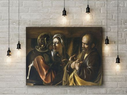 Caravaggio: The Denial of Saint Peter. Fine Art Canvas.